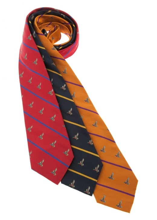 Atkinsons Duck Stripe Silk Tie