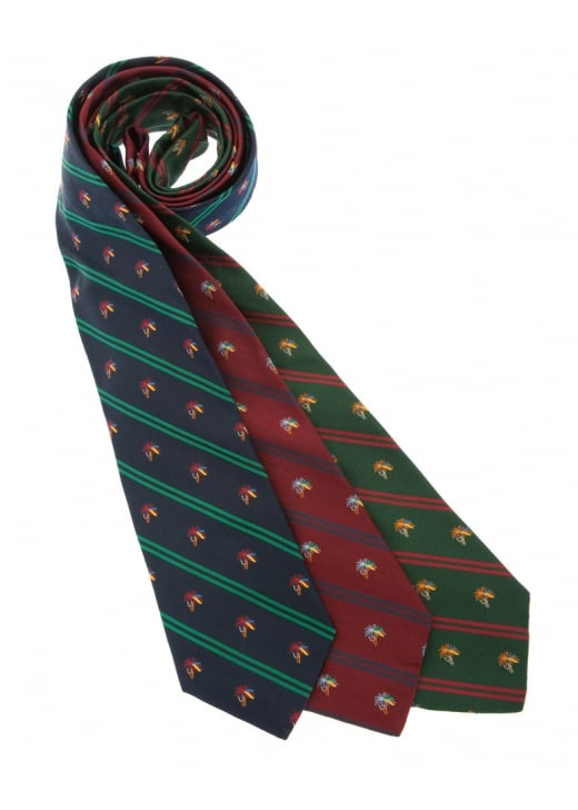 Atkinsons Fishing Hook Silk Tie