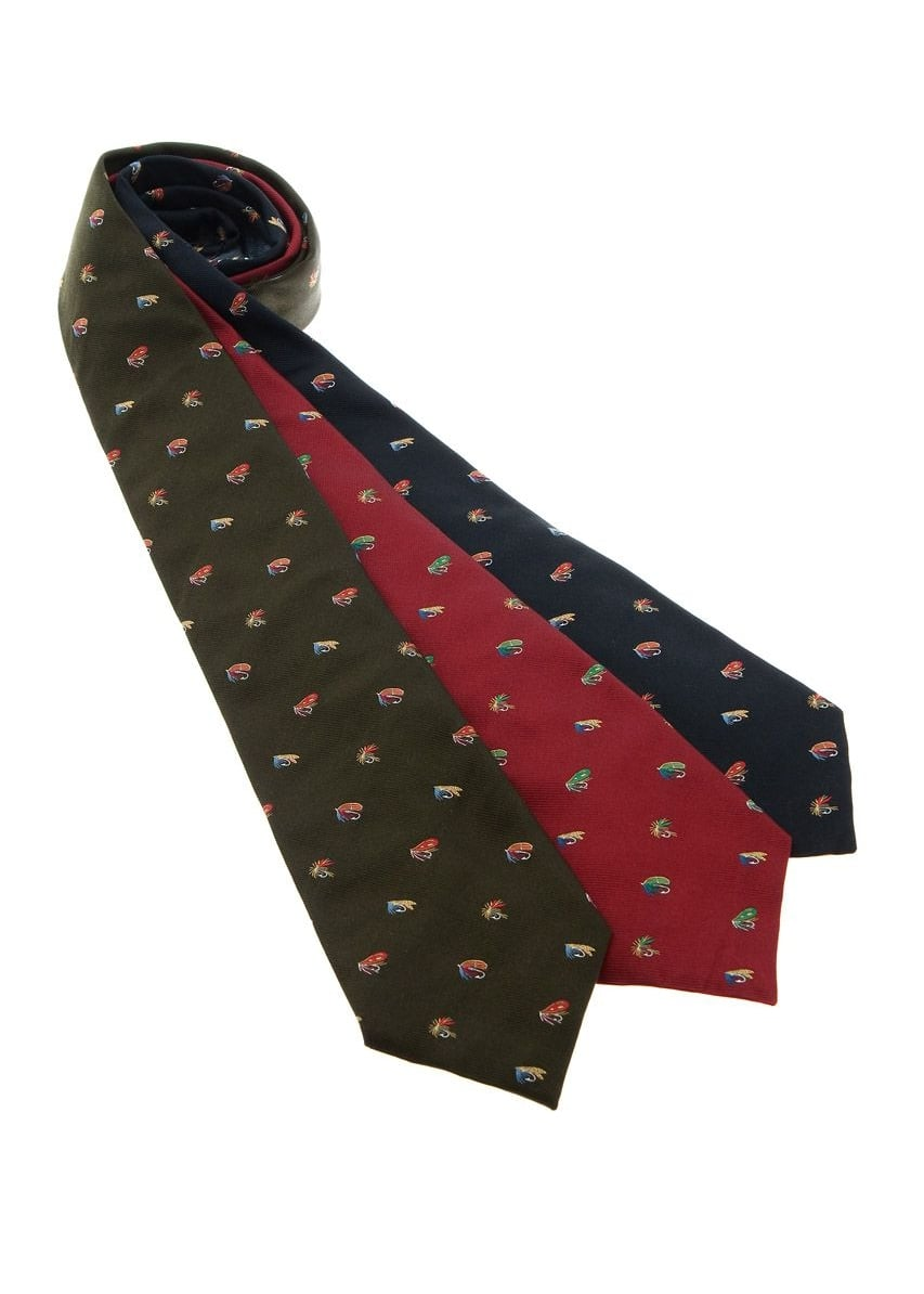 Atkinsons Fishing Hook Silk Tie Large Image