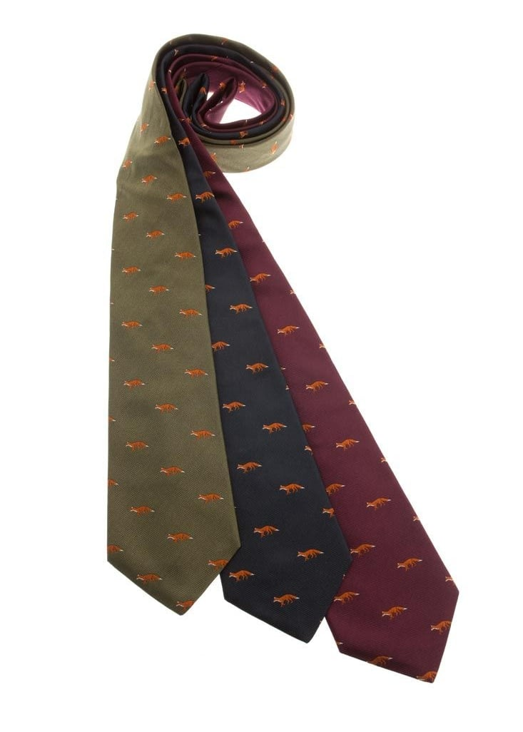 Atkinsons Foxes Silk Tie  Large Image