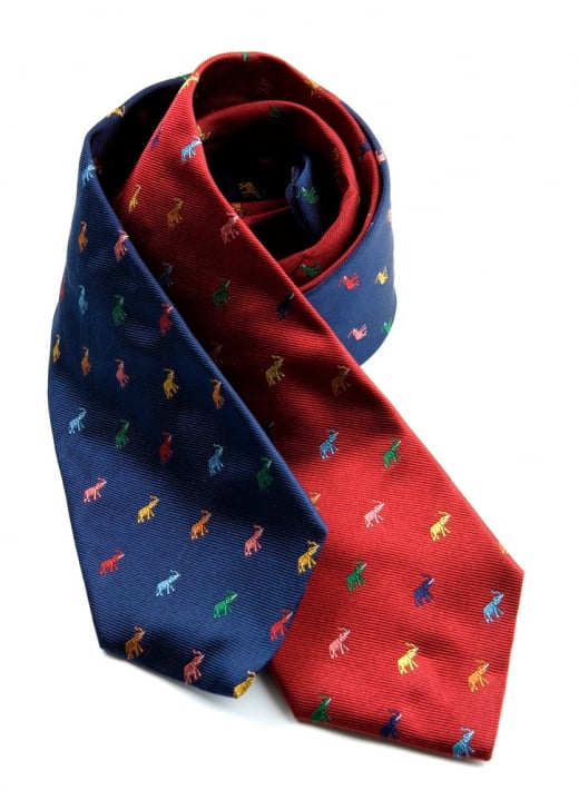 Atkinsons Multi Coloured Elephant Silk Tie