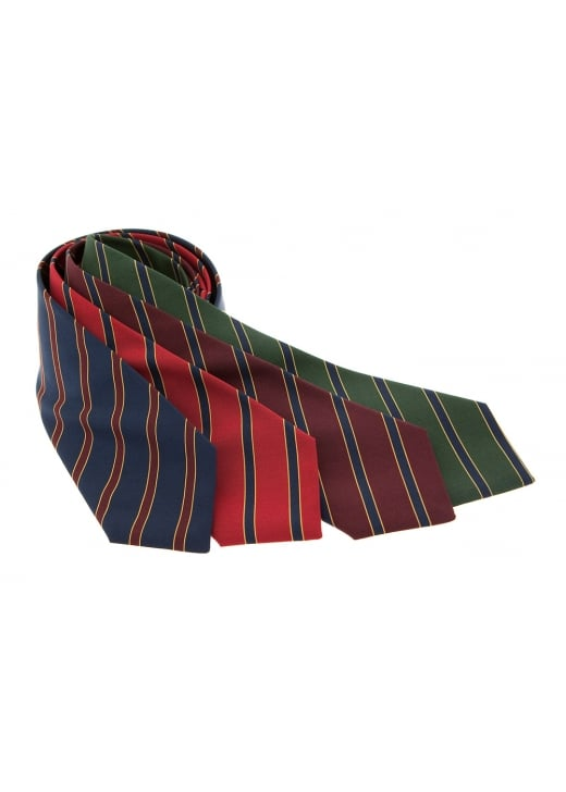 Atkinsons Narrow Regimental Stripe Silk Tie