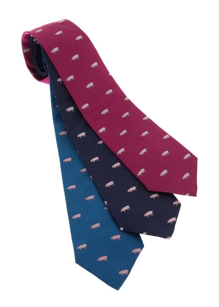 Atkinsons Pigs Silk Tie Large Image