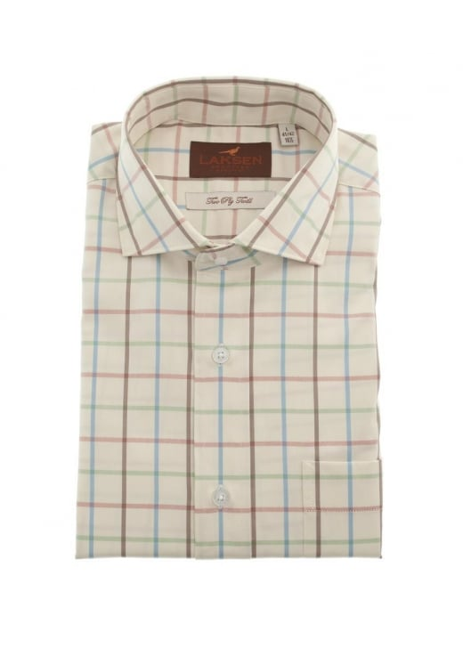 Laksen August Windowpane Check Shirt