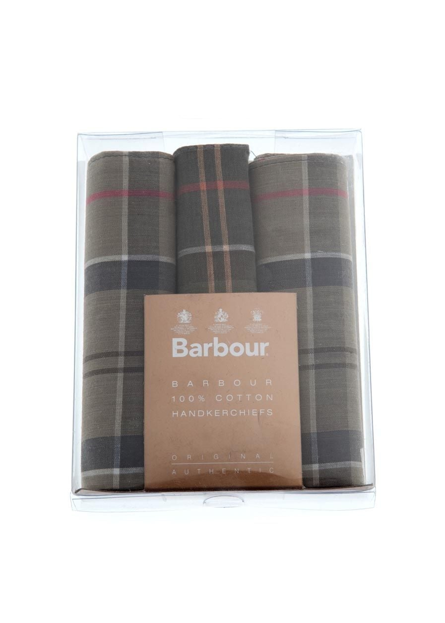 Barbour 3 Pack Handkerchiefs Large Image