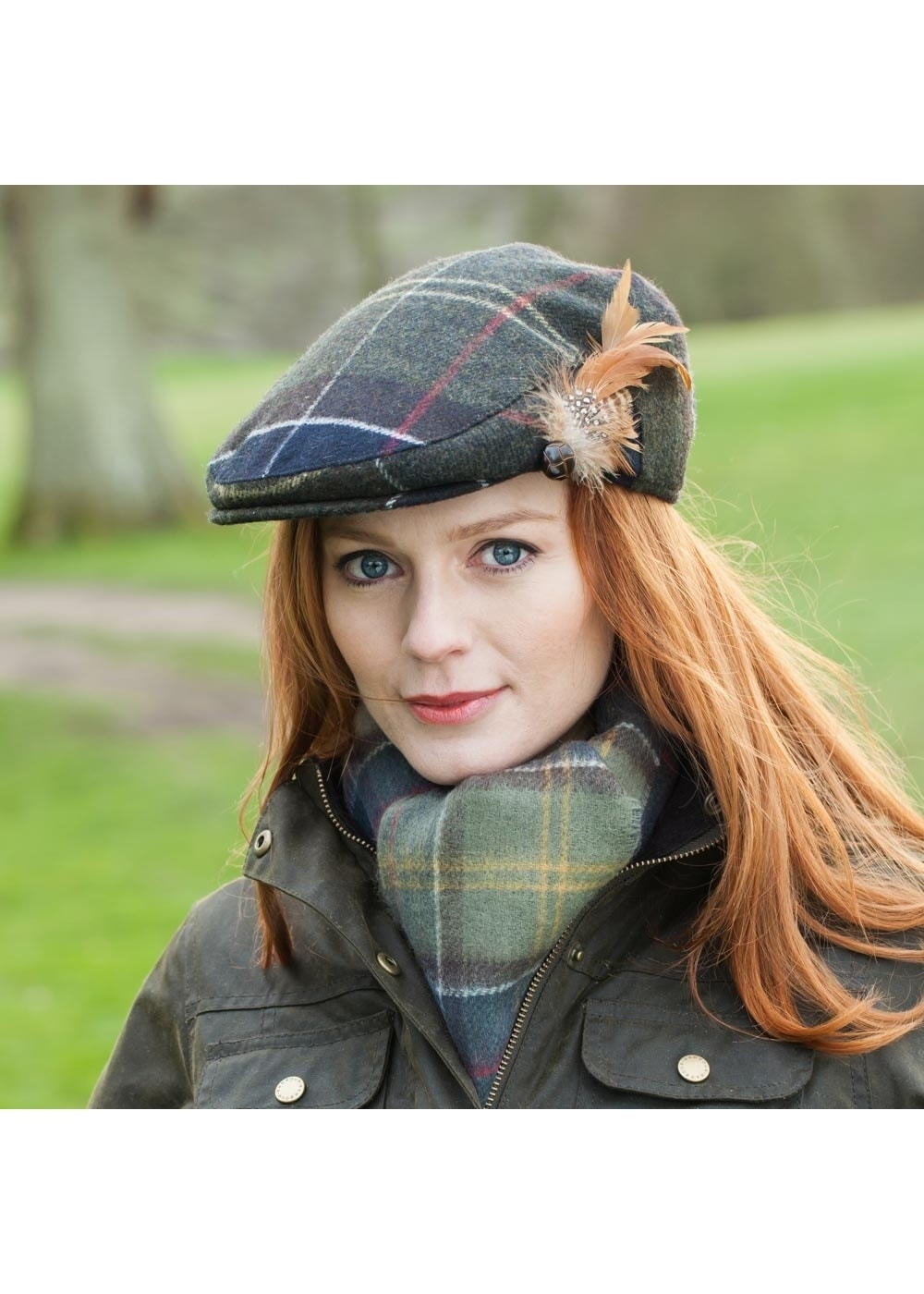 e1a6c338 Barbour Tartan Wool Cap - Ladies from A Hume UK