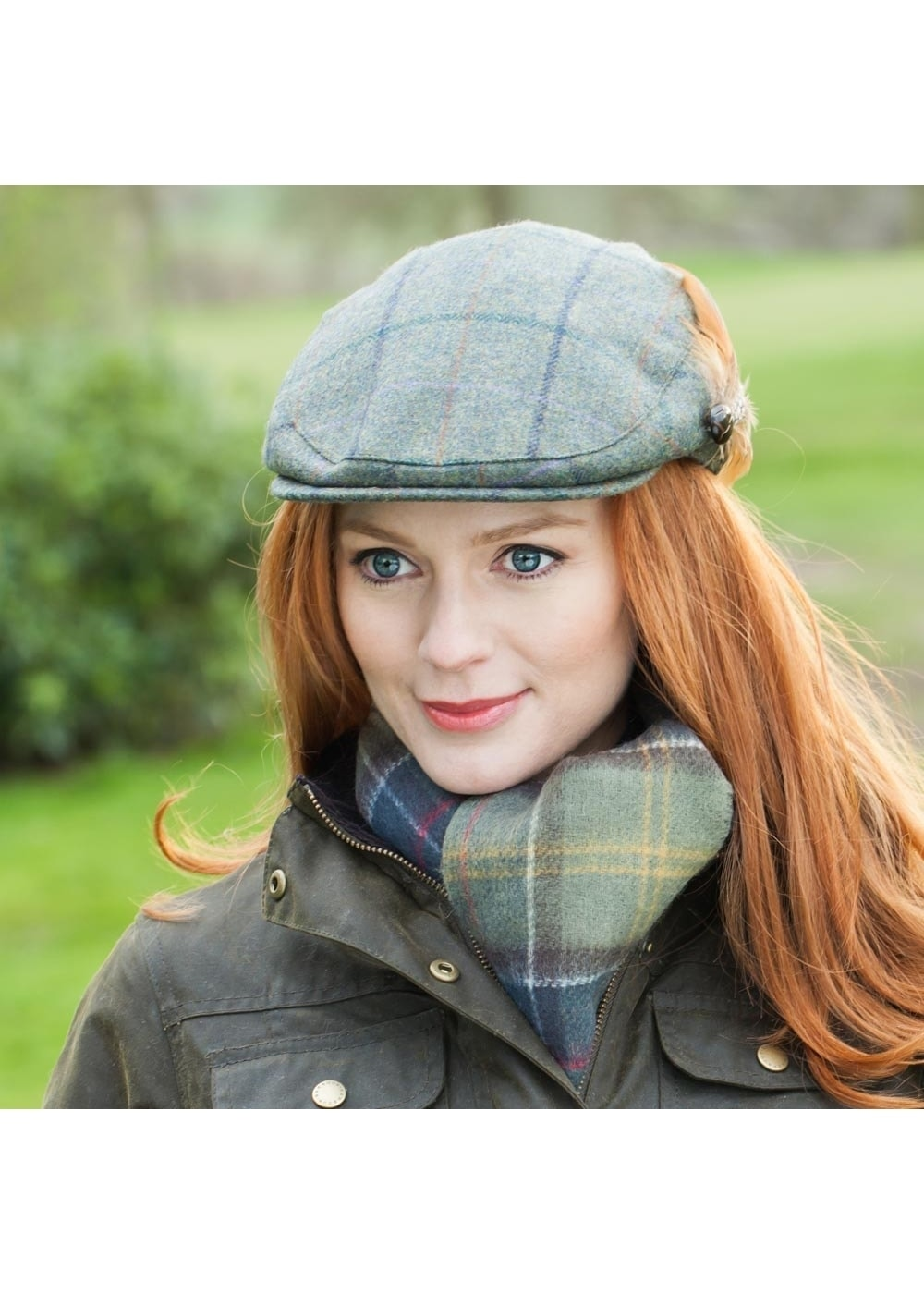 2ca9907b Barbour Tweed Flat Cap - Ladies from A Hume UK