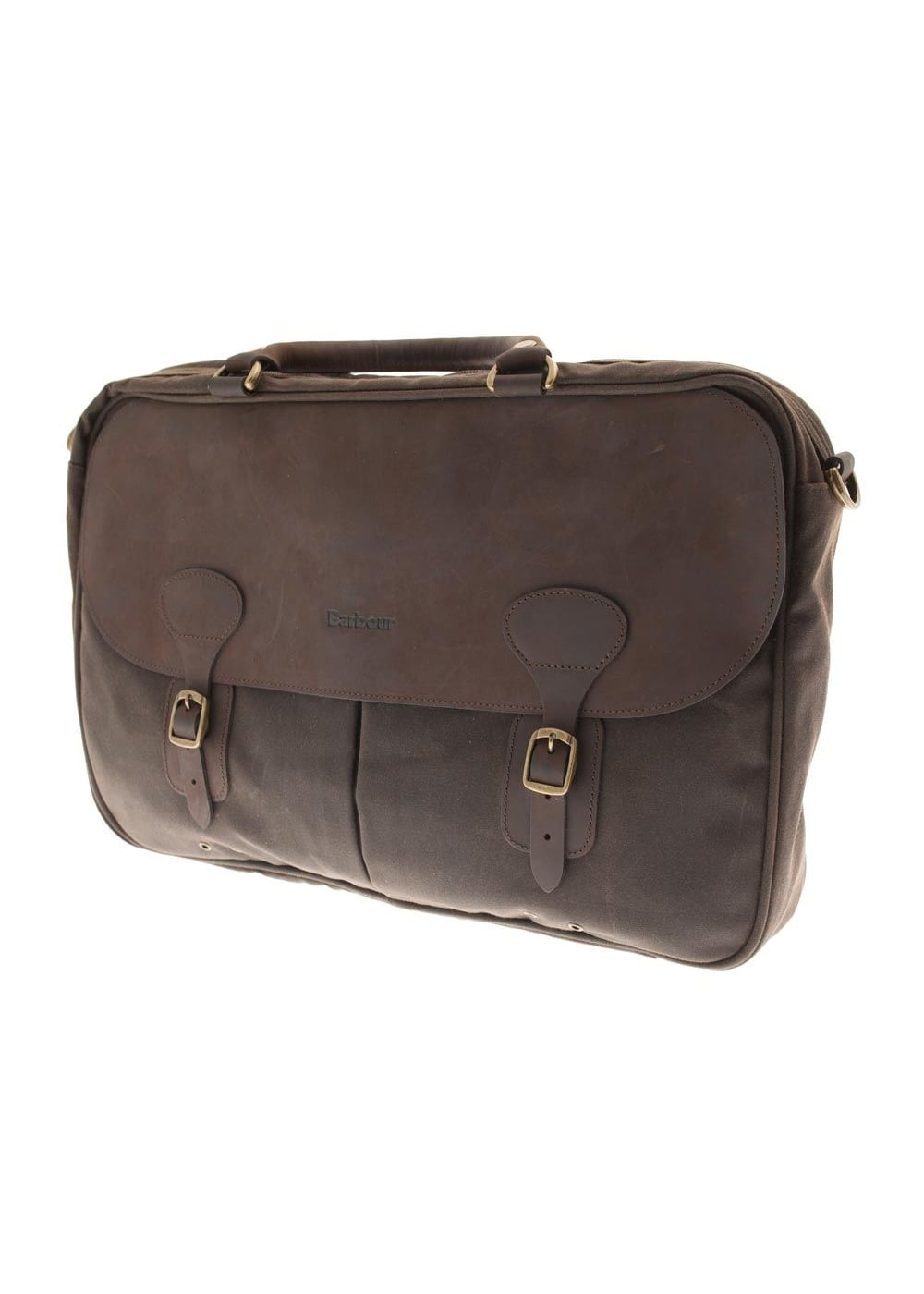 Barbour Wax Leather Briefcase NEW Large Image