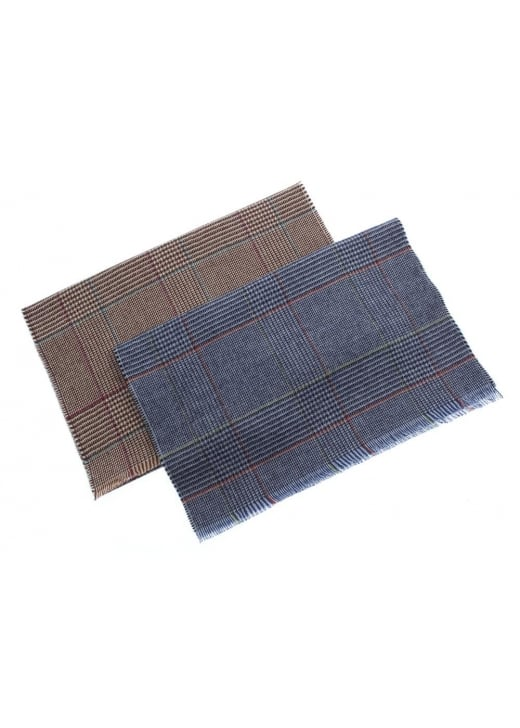 Johnstons of Elgin Bordered Glen Check Scarf
