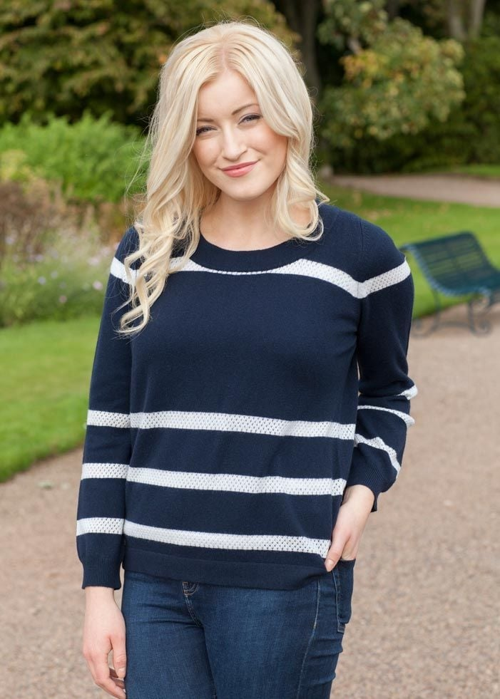 Brodie Cashmere Breton Top  Large Image