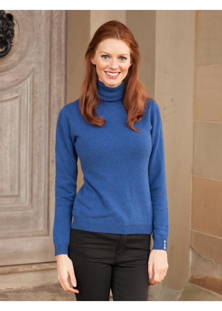 Brodie Cashmere Roll Neck Large Image