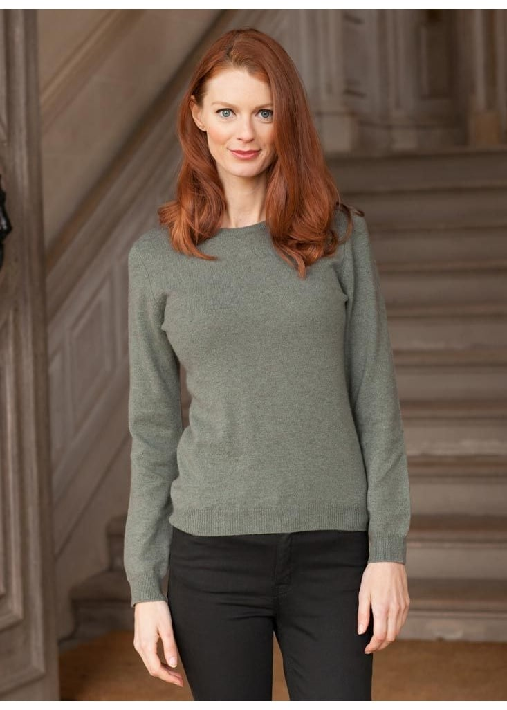 Brodie Cashmere Rolo Round Jumper  Large Image