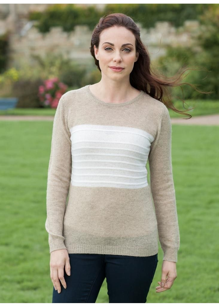 Brodie Cashmere Square Jumper  Large Image