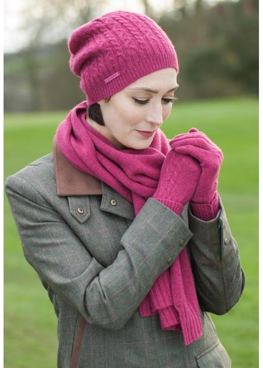 Schoffel Cashmere Cable Gloves