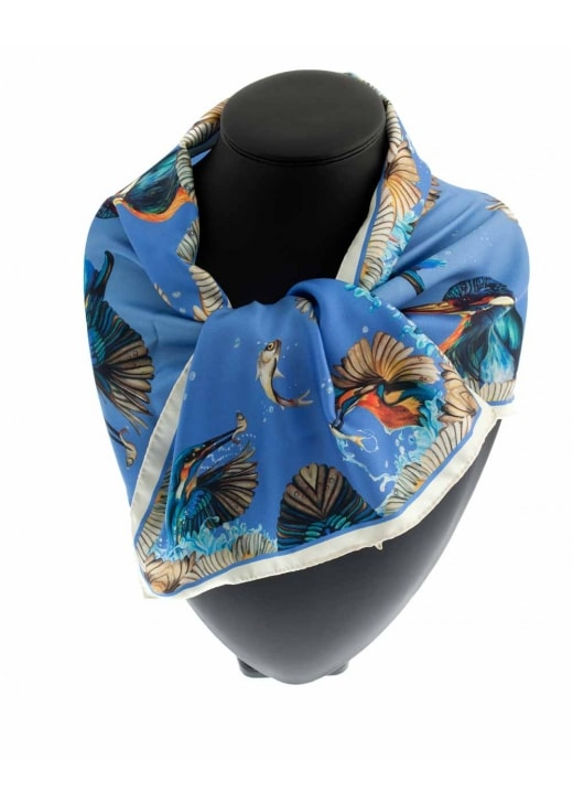 Clare Shaw Kingfisher Narrow Scarf