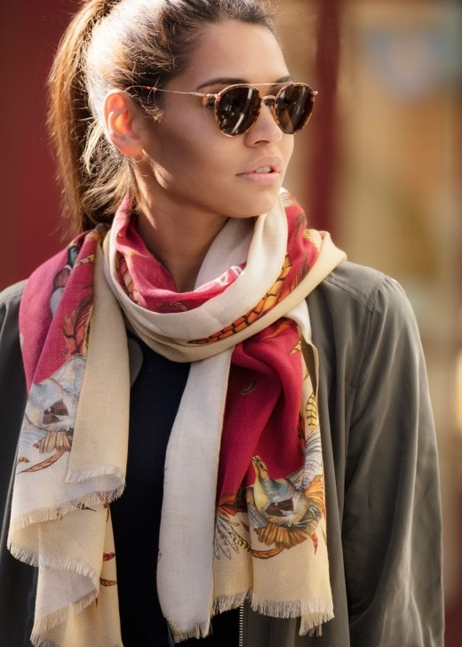 Clare Shaw Royal Flush Cashmere Scarf