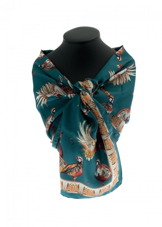 Clare Shaw Tantalising Teal Classic Scarf