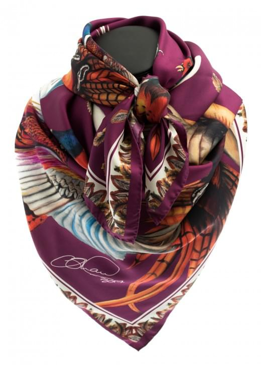 Clare Shaw Wing and a Prayer Silk Square Scarf