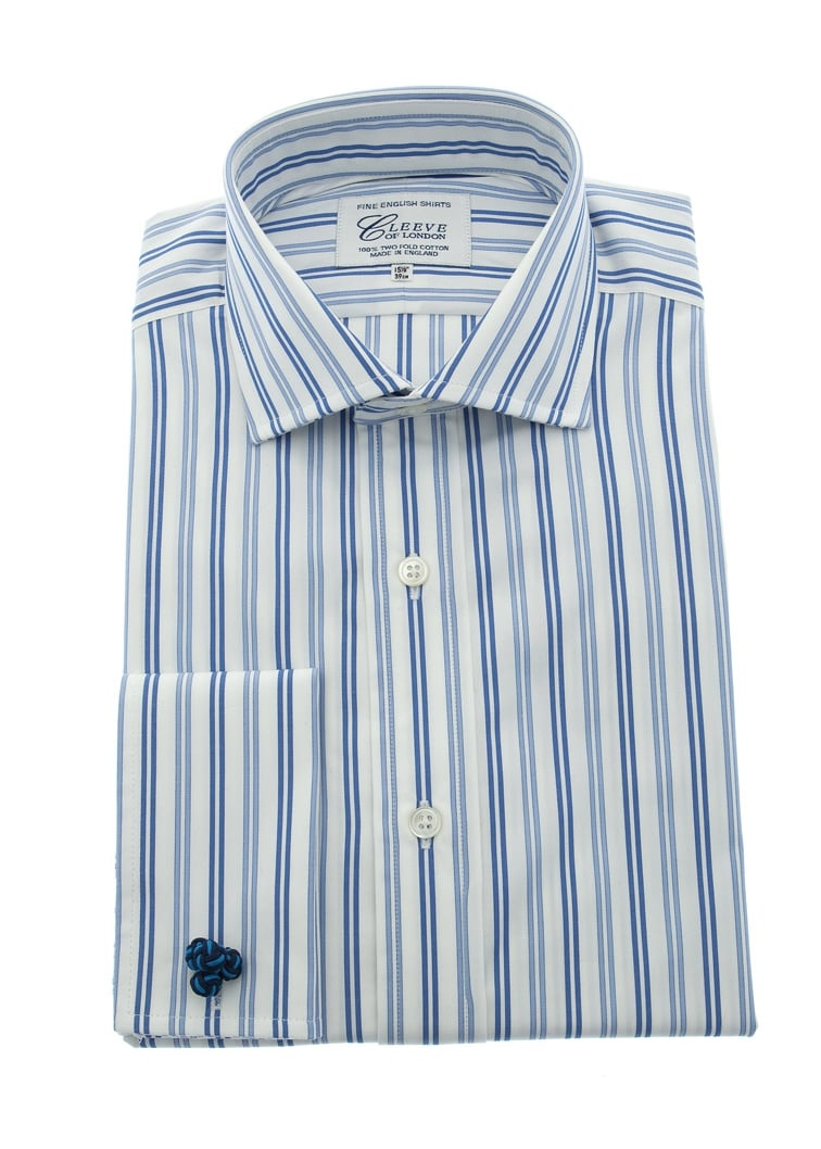 Cleeve of London Bold Striped Shirt Large Image