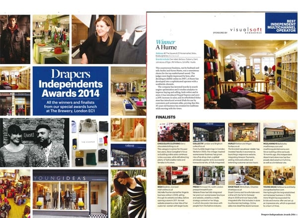 DRAPERS INDEPENDENTS AWARDS 2014