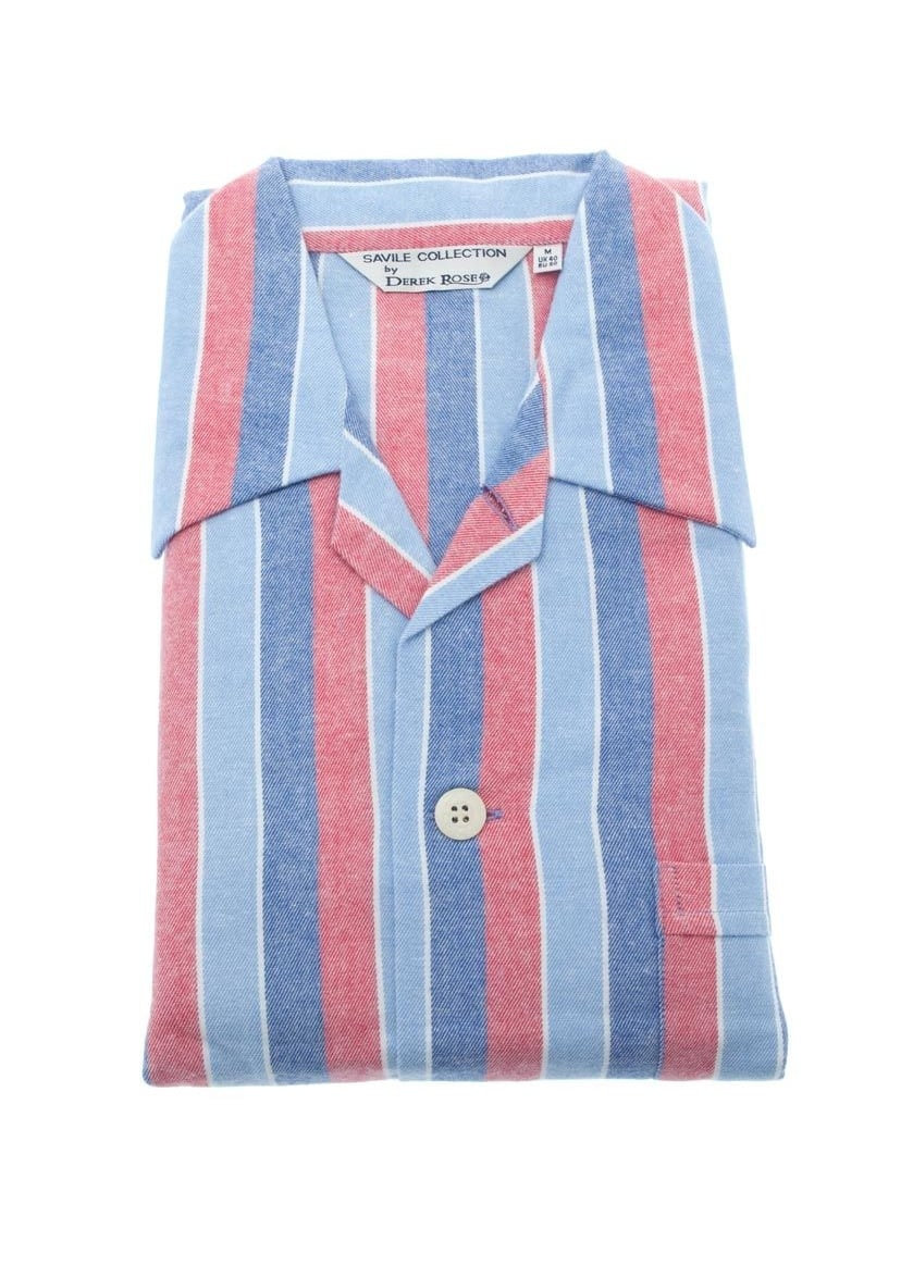 Derek Rose Davos Stripe Pyjamas  Large Image