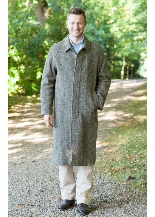 Magee Donegal Tweed Corrib Overcoat