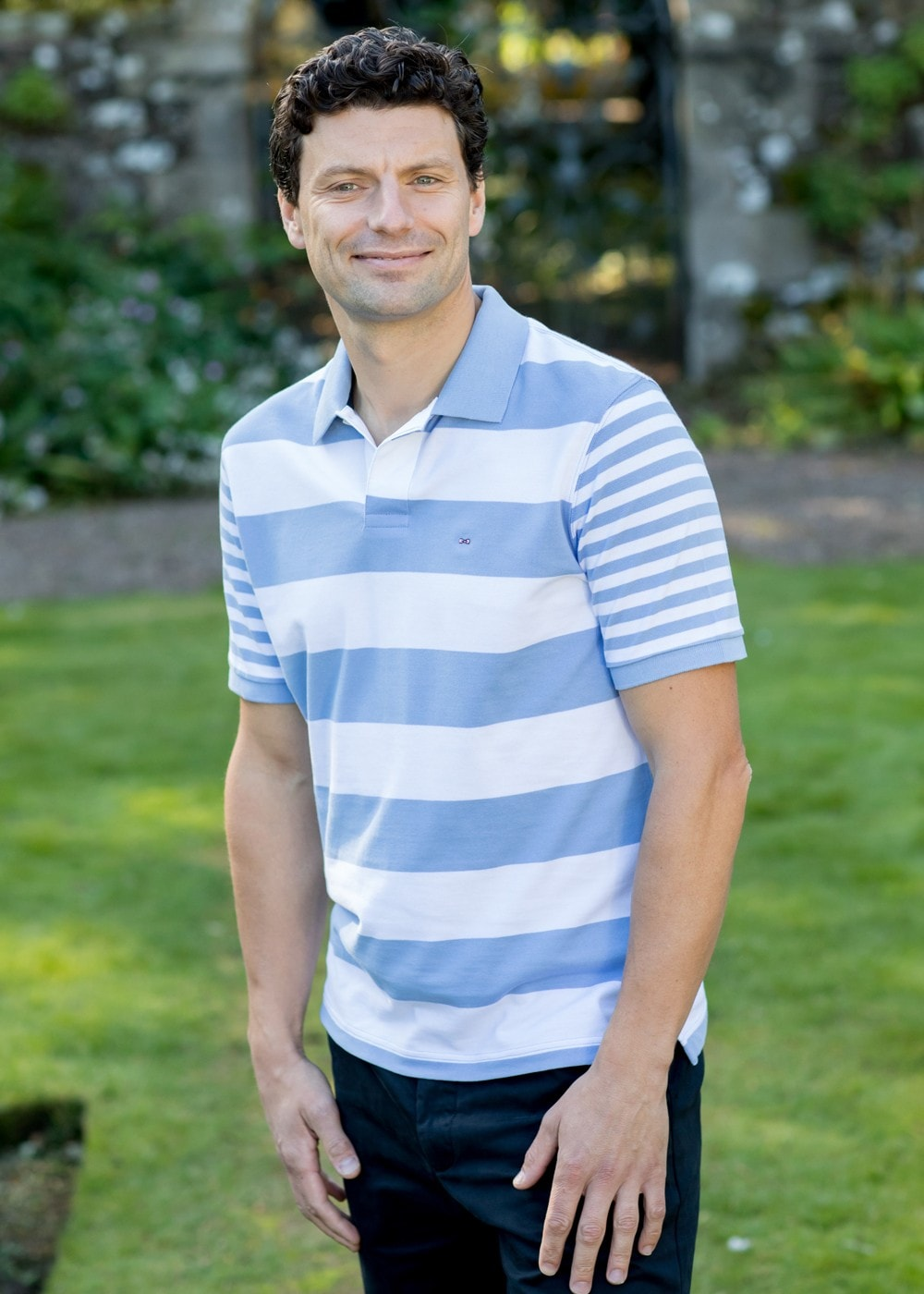 dfa13f316f1 Eden Park Double Stripe Polo Shirt - Mens from A Hume UK