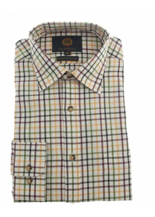 Viyella Edged Tattersall Shirt