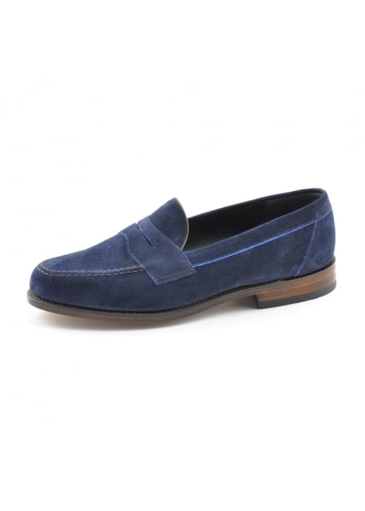 Loake Eton Suede Saddle Loafers