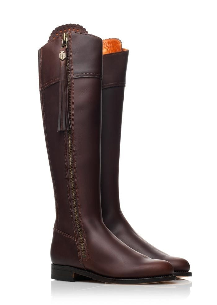 Fairfax and Favor Leather Regina Boots (Stretch Back)  Large Image