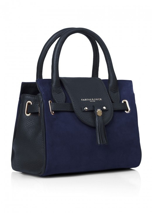 Fairfax and Favor Suede Mini Windsor Handbag