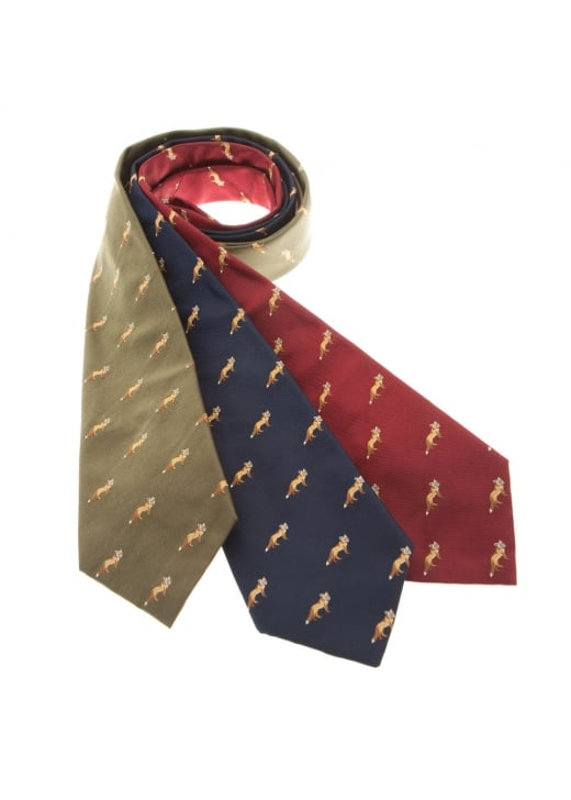 Cravats of London Foxes Silk Tie