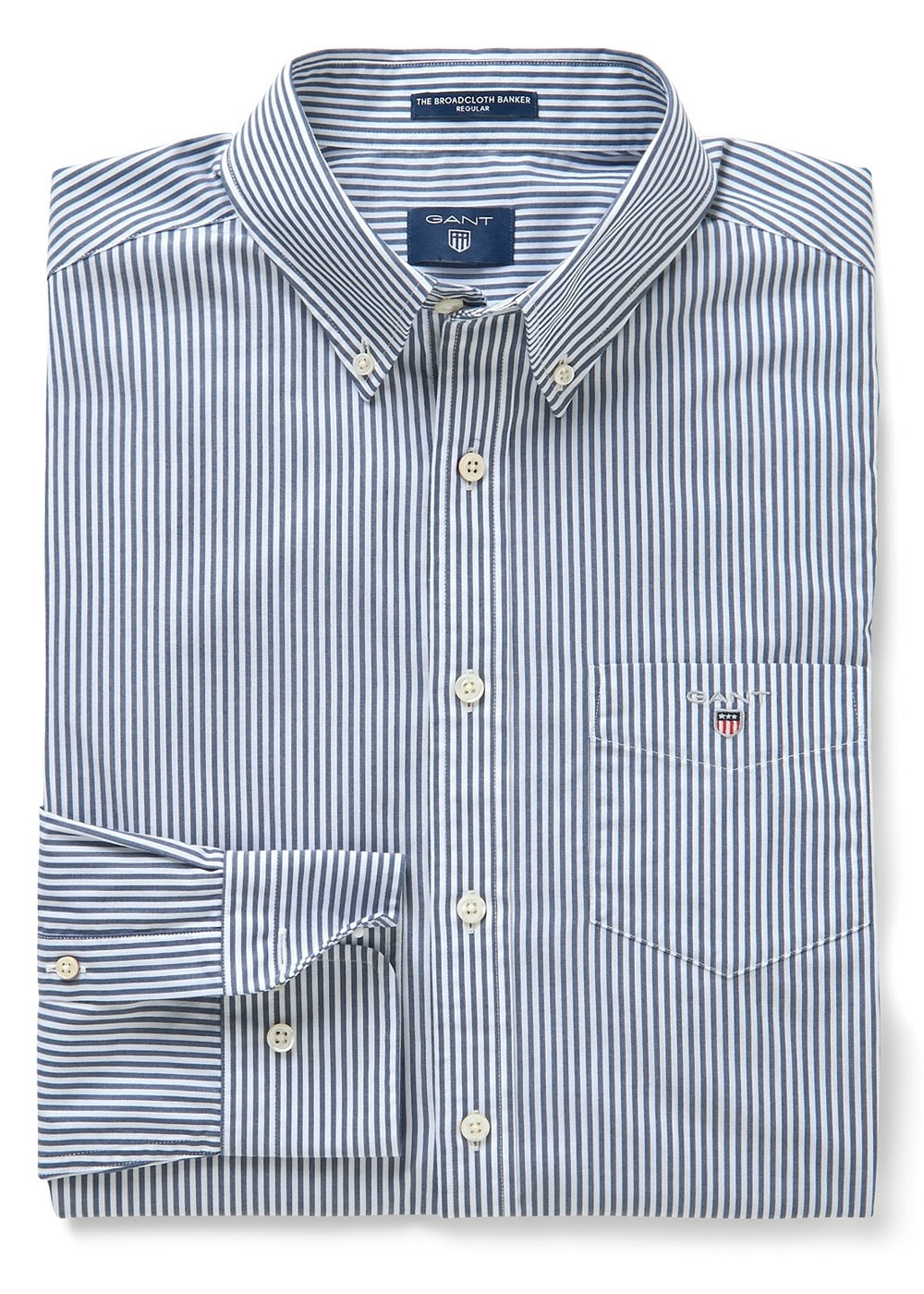 2d6e3afd37 Gant Broadcloth Banker Striped Shirt - Mens from A Hume UK