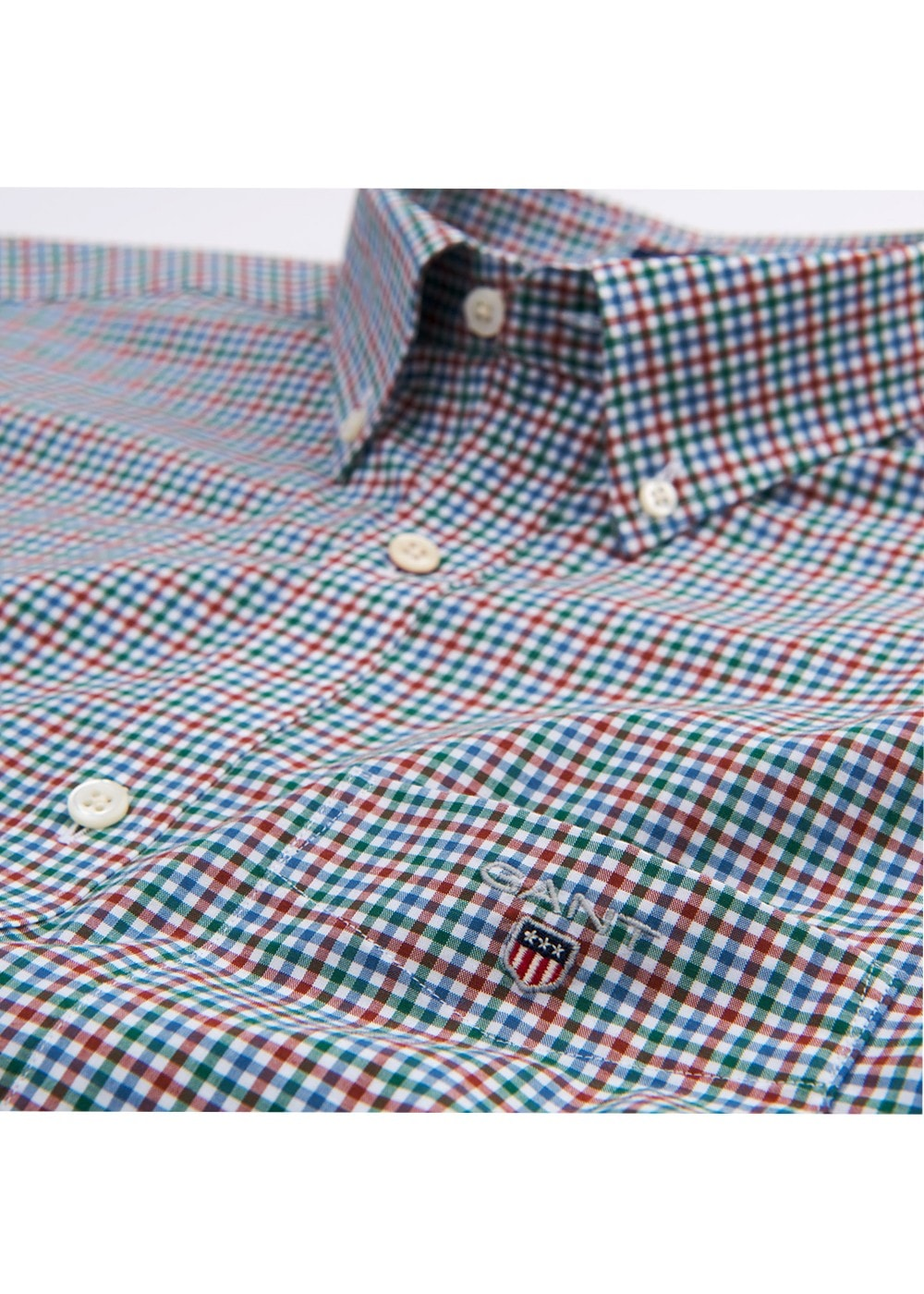 bd37db859e Gant Broadcloth Gingham Shirt - Mens from A Hume UK