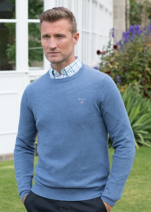 Gant Cotton Pique Crew Neck