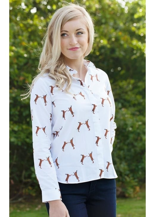 Gibson and Birkbeck Boxing Hare Print Shirt