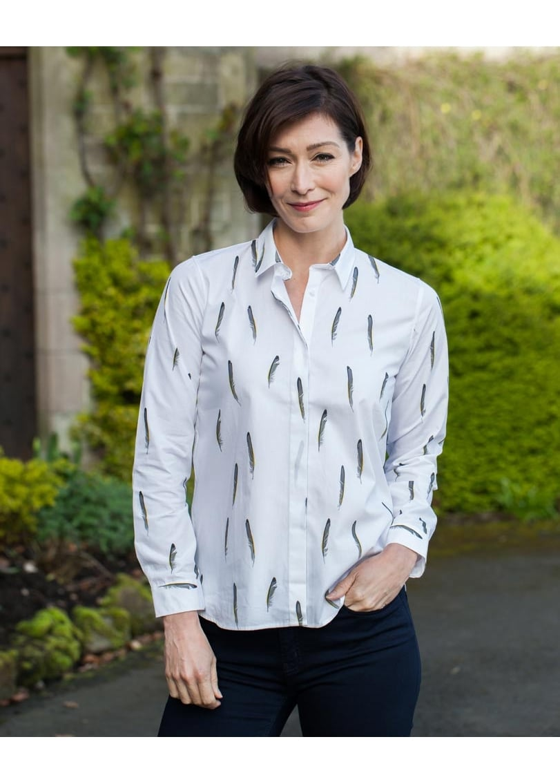 Gibson and Birkbeck Grey Feather Shirt  Large Image