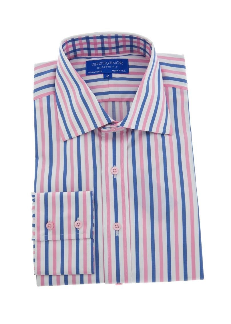 Grosvenor Bold Stripe Shirt Large Image