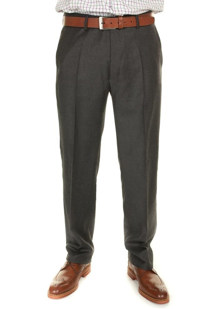 Gurteen Epsom All Wool Flannel Trousers Large Image