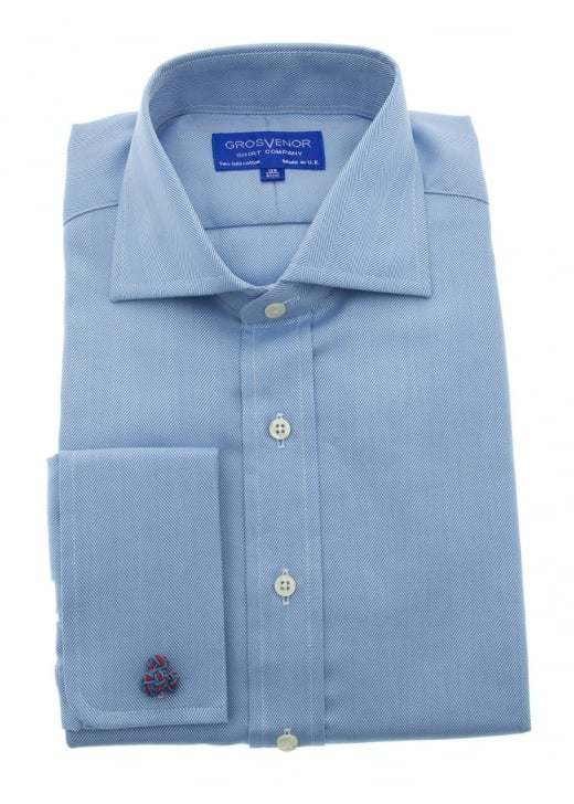 Grosvenor Herringbone Plain Shirt