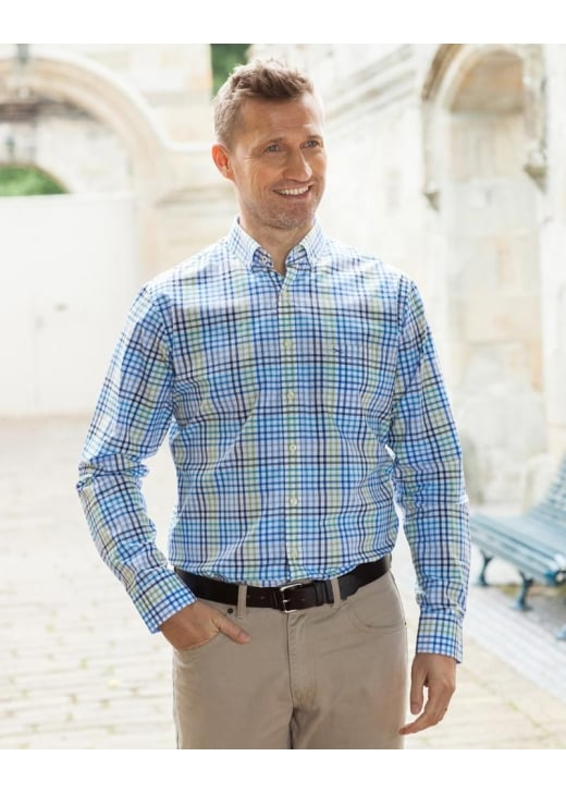 Brax Hi-Flex Tattersall Shirt