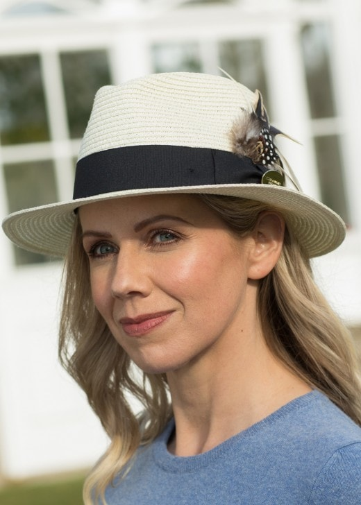 Hicks & Brown The Aldeburgh Fedora with Guinea and Pheasant Feather