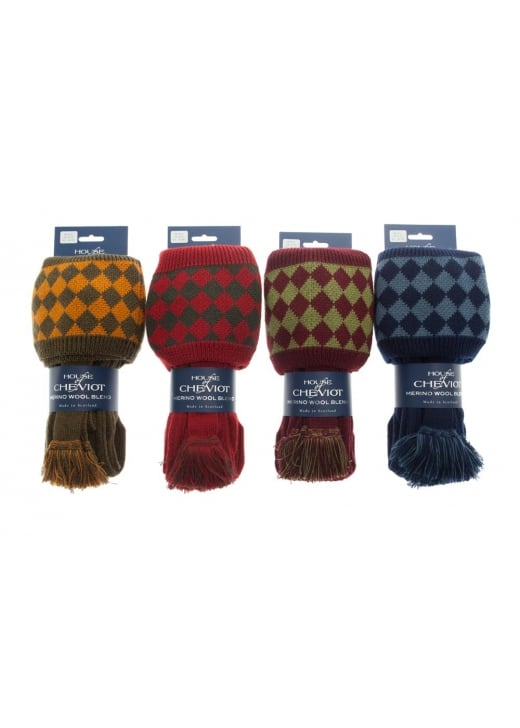 House of Cheviot Chessboard Socks and Garters