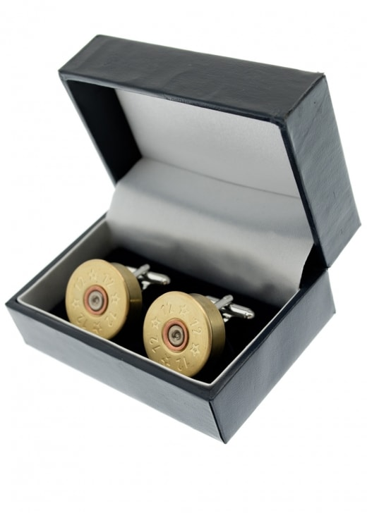 J Boult Silver Plated Cartridge Cufflinks
