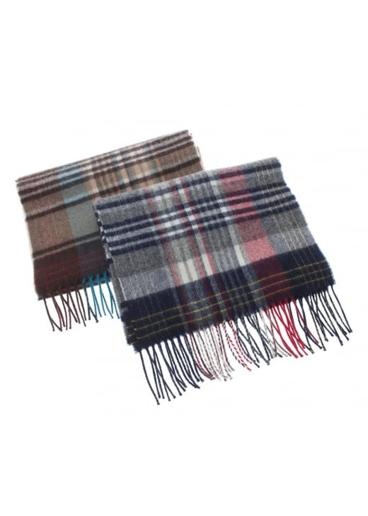 Johnstons of Elgin Graphic Check Scarf