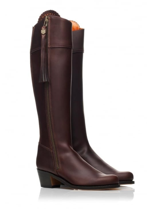 Fairfax and Favor Leather Regina Heeled Boots (Leather Sole)