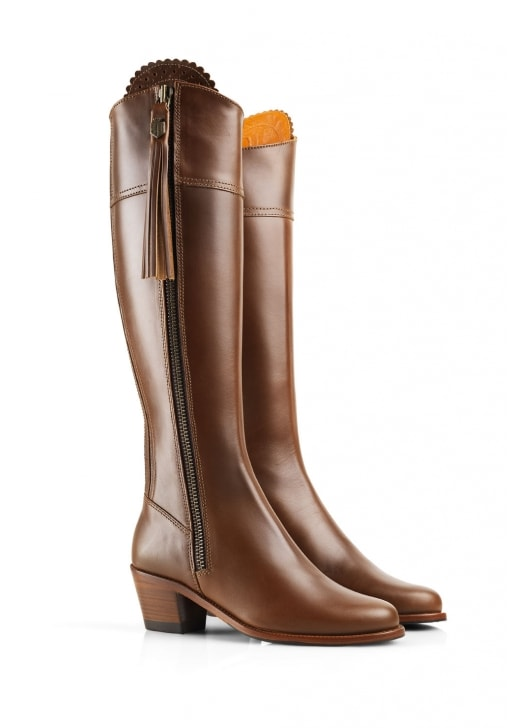 Fairfax and Favor Leather Regina Heeled Boots (Rubber Sole)