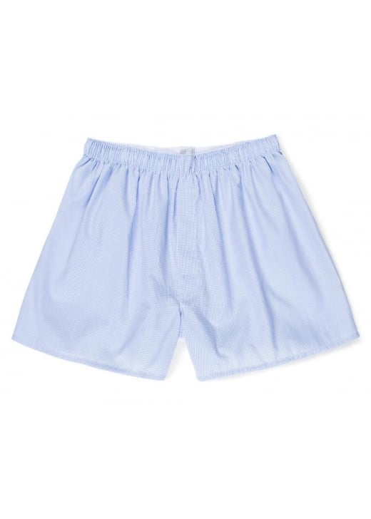 Sunspel Light Micro Gingham Boxer Shorts