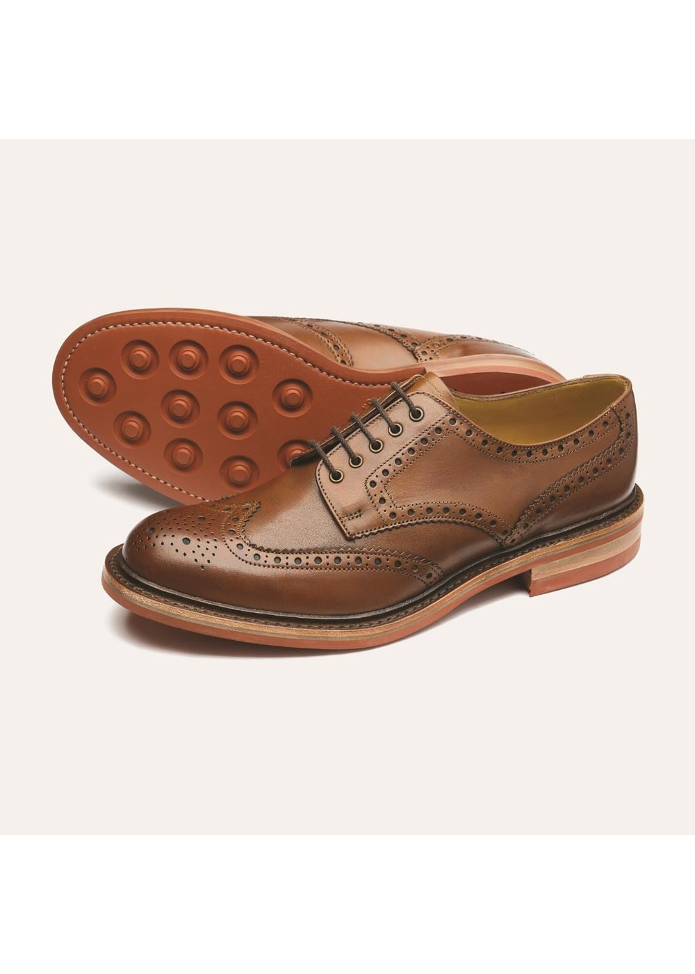 Loake Worton Brogue Shoe NEW Large Image