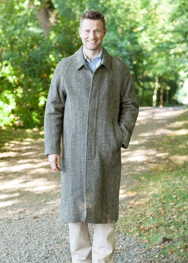 Magee Donegal Tweed Corrib Overcoat  Large Image